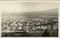 Kingfield ME View of Homes c1910 Real Photo Postcard