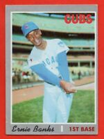 1970 Topps #630 Ernie Banks VG-VGEX+ WRINKLE HOF Chicago Cubs FREE SHIPPING