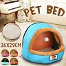 Pet Cat Dog Nest Bed Puppy Soft Warm Cave House Sleeping Bag Mat Pad Winter UK