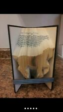 Folded Book Art. Horse. Racing. Stable