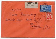 STORIA POSTALE 1948 REPUBBLICA LIRE 10 + 30 SU BUSTA RESUTTANO 14/5 D 07599