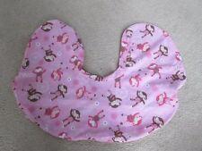 Boppy Pillow Cover Pink Monkey Dance Baby Nursing Feeding EUC