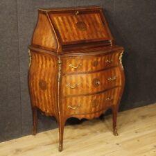 Bureau de pente meuble secrétaire commode italienne bois marqueté style ancien