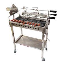 Cypriot Greek Stainless Steel BBQ Adjustable Chicken Skewer Heights