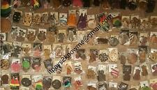BULK WHOLESALE business African American Black woman wooden earrings 100 PAIR