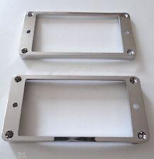 NEW 2 Mountings ring incurvés - argent - pour Les Paul, SG - contours plastiques