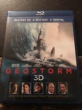2-Disc Blu-Ray - GeoStorm 3D (2018, Digital Copy Included) RARE HTF