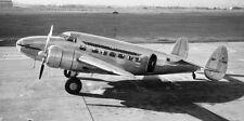 "Aviation, ""Passenger Transport Plane at Field-1938"" digital print - B&W photo"