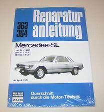 Reparaturanleitung Mercedes R107 C107 107 280 / 350 / 450 SL und SLC - ab 1971!