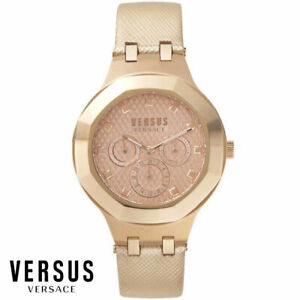 Versus by Versace VSP360317 Laguna City rose gold Leather Women's Watch NEW