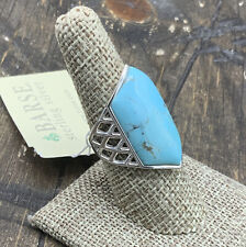 Barse Milan Lattice Ring- Turquoise- Sterling Silver- 8-NWT
