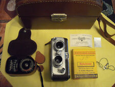 BELL & HOWELL FILMO AUTO-8, DUAL LENS RETRO KIT WITH VINTAGE CASE AND FILM
