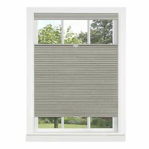Dove Gray Cordless Cellular Top-Down Bottom Up Honeycomb Pleated Window Shades