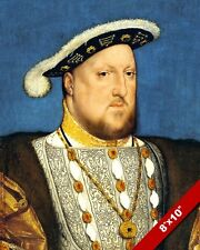 YOUNG KING HENRY 8TH VIII OF ENGLAND PORTRAIT PAINTING ART REAL CANVAS PRINT