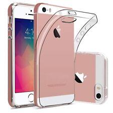 iPhone 5/5s/SE Schutz Hülle Slim Silikon Case Cover Klar Transparent Blitzversan