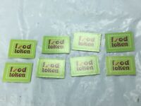 Mall Madness Replacement Food Tokens 2004 Set of 8 Parts Vintage Board Game FS