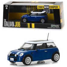 2003 Mini Cooper Blau Weiß The Italian Job 1:43 GreenLight 86546