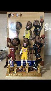 FOCO 2020 LeBron James 4X NBA Champion Bobblehead Lakers Heat Cavs /504 See Pics