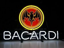 "Bacardi Rum Whisky Neon Sign 17""x14"" Bar Pub Beer Light Lamp Gift"