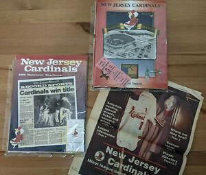 1994 1995 New Jersey Cardinals Yearbook Scorecard Baseball Newspaper Ticket Stub