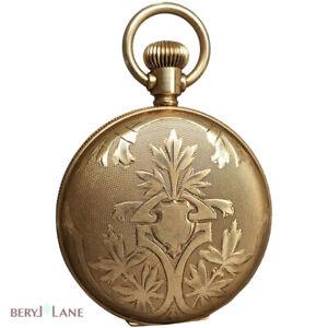 Antique ART NOUVEAU 14k Yellow Gold Beautifully Engraved Upcycled LOCKET PENDANT