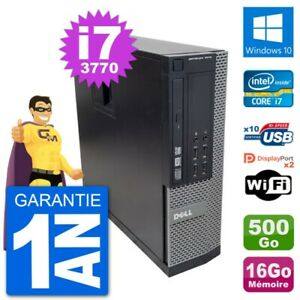 PC Dell 7010 SFF Intel Core i7-3770 RAM 16Go Disque Dur 500Go Windows 10 Wifi