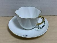 SHELLEY  OLEANDER SHAPE REGENCY CUP AND SAUCER