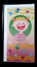 """E42) lot de 3 Cartes """"Baptême"""" + enveloppes - Neuf -"""