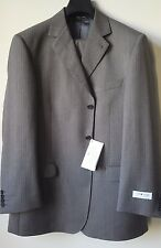 IVANO BIAGI MENS 3 BUTTON SUIT GRAY-BROWN SIZE 44L / 38, MADE IN ITALY MSRP $549
