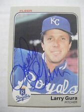LARRY GURA signed ROYALS 1983 Fleer baseball card AUTO Autographed #113 YANKEES