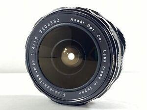 [Mint] Asahi Pentax Takumar 17mm f/4 Fish eye MF Lens for M42 Mount from JAPAN