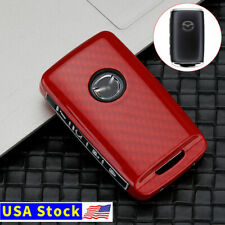 Carbon Siliocne Remote Key Fob Cover Case Shell For Mazda 3 Cx 30 Cx 5 2019 2020 Fits Mazda