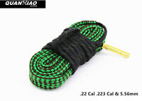 Pull Through Bore Snake .22cal Rifle Barrel Cleaner Boresnake Cleaning Kit Rope