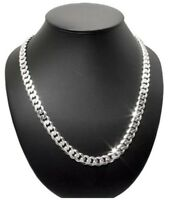 NEW REAL 7mm 925 Sterling Silver Curb Cuban Link Chain Mens Necklace 20Inch 35gr