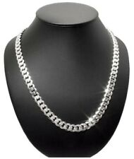 NEW REAL 7mm 925 Sterling Silver Curb Cuban Link Chain Mens Necklace 20Inch 40gr