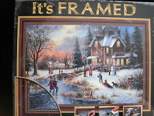 """""""THE GLOW OF WINTER LIGHTS"""" 1000  PC PUZZLE BY DENNIS LEWAN/ ART"""