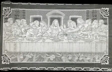 "Heritage Lace Last Supper 60"" x 108"" Rectangle White Scalloped Lace Tablecloth"