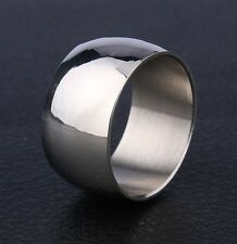 25x Silver Polish 10mm Stainless Steel Wedding Rings For Men and Women Wholesale