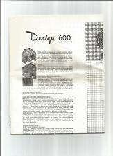 Mail Order Design #600 Cross-stitch APRONS on Gingham fabric  ©1940/50s scarce