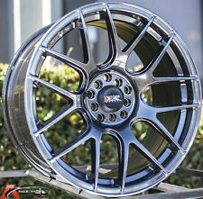 18X8.75 XXR 530 5X114.3 +33 CHROMIUM BLACK WHEEL FITS SCION XB TC HONDA CIVIC SI