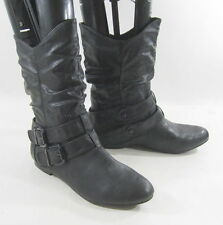 new ladies Black Round Toe Sexy Ankle Boot Side Buckle Us Womens Size 8