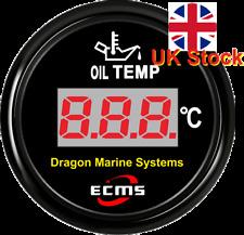 Medidor digital de temperatura de aceite de marina 12/24 V Impermeable Dial Negro