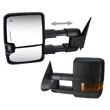 2x Towing Mirrors For 07-13 Silverado Sierra Tahoe w/ Power Heated LED Signals