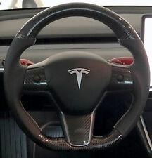 2018  Tesla  Model 3 Ferrari Racing Design Real Carbon Fiber  Steering Wheel
