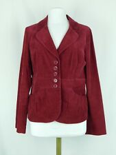 NWOT Halogen Women's Corduroy Blazer Berry Red Size Large Button Closure NEW