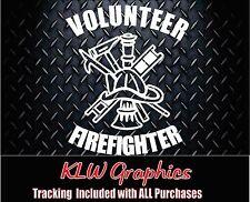 Volunteer Firefighter *  Vinyl Decal Sticker Car Truck Family Dad Diesel 1500