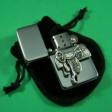 Fancy Saddle Petrol Lighter in Pouch Free UK Post Western Line Dancing Horses