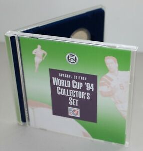 1994 World Cup Soccer Proof 2 Coin Set 90% Silver Dollar and 50 Cent Box COA
