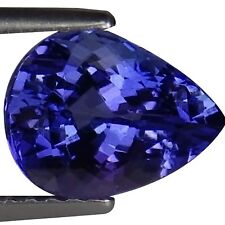2.11 Ct IGI Certified AA Natural D Block Tanzanite Blue Violet Pear Cut