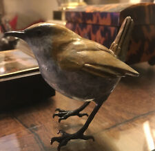 Solid Bronze life size WREN With A Lovely Patina - Enchanting
